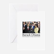 Barack Obama, 44th President Greeting Cards (Pk of