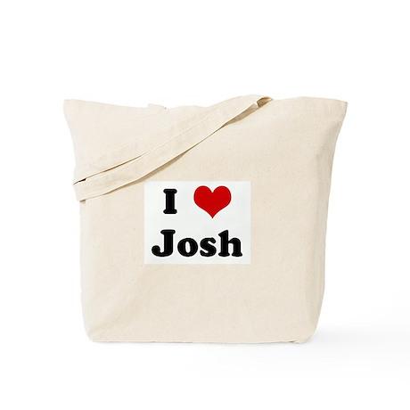 I Love Josh Tote Bag