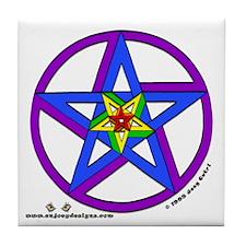 Pentagrams #1 - Tile Coaster