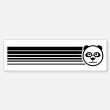 Retro Panda Bumper Bumper Bumper Sticker