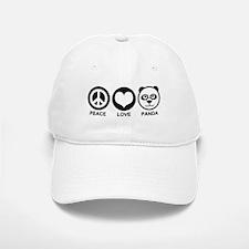 Peace Love Panda Baseball Baseball Cap