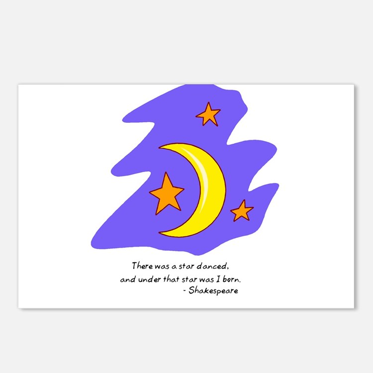 Shakespearean Star Quote Postcards (Package of 8)