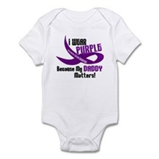 I Wear Purple For My Daddy 33 PC Infant Bodysuit