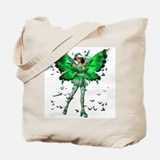 Butterfly Kisses Emerald Tote Bag