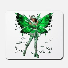 Butterfly Kisses Emerald Mousepad