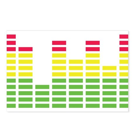 equalizer audio sound Postcards (Package of 8)