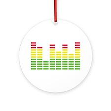 equalizer audio sound Ornament (Round)