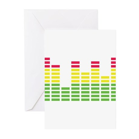 equalizer audio sound Greeting Cards (Pk of 10)