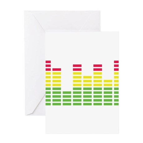 equalizer audio sound Greeting Card