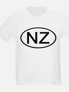New Zealand - NZ - Oval Kids T-Shirt