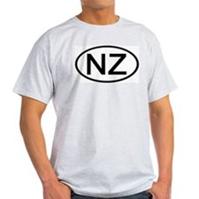 New Zealand - NZ - Oval Ash Grey T-Shirt