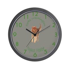 Werewolf Space Heater Wall Clock