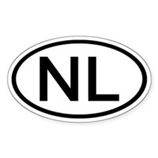 Netherlands - NL - Oval Oval Bumper Stickers
