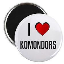I LOVE KOMONDORS Magnet