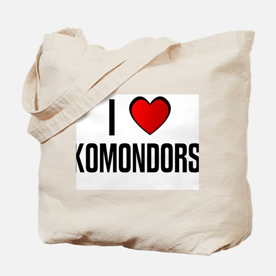 I LOVE KOMONDORS Tote Bag
