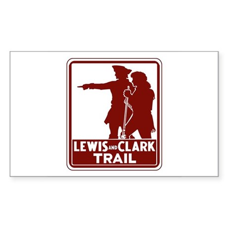 Lewis & Clark Trail, Idaho Rectangle Sticker