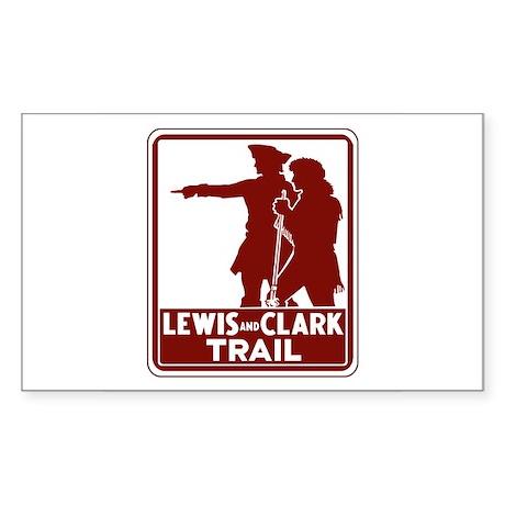 Lewis & Clark Trail, Idaho Rectangle Sticker