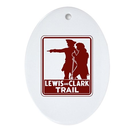 Lewis & Clark Trail, Idaho Oval Ornament