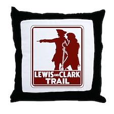 Lewis & Clark Trail, Idaho Throw Pillow