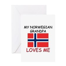 My Norwegian Grandpa Loves Me Greeting Card