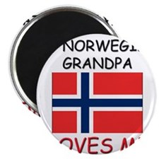 My Norwegian Grandpa Loves Me Magnet