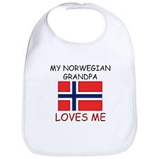 My Norwegian Grandpa Loves Me Bib