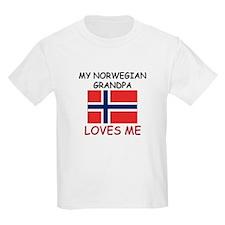 My Norwegian Grandpa Loves Me T-Shirt