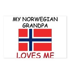 My Norwegian Grandpa Loves Me Postcards (Package o