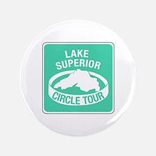 """Lake Superior Circle Tour, Minnesota 3.5"""" Button"""