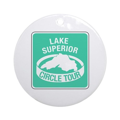 Lake Superior Circle Tour, Minnesota Ornament (Rou