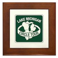 Lake Michigan Circle Tour, Wisconsin Framed Tile