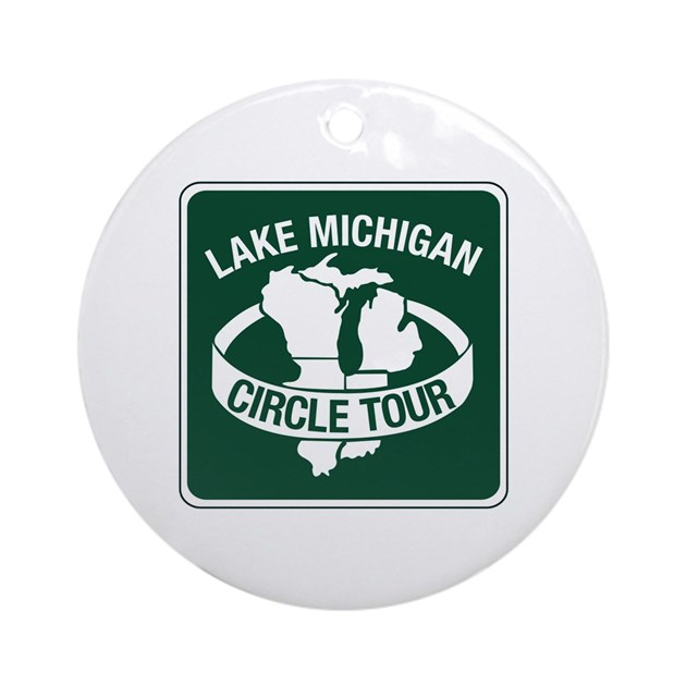 Lake Michigan Circle Tour Wisconsin Ornament Rou By Worldofsigns