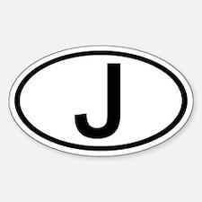 Japan - J - Oval Oval Decal