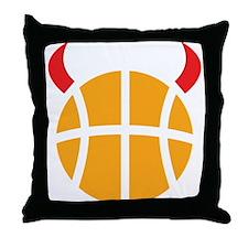 Basketball Devil Throw Pillow