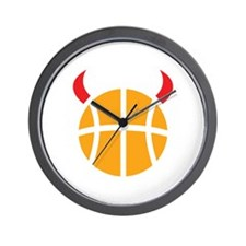 Basketball Devil Wall Clock