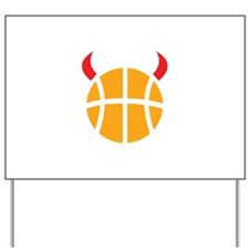 Basketball Devil Yard Sign