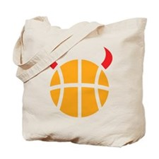 Basketball Devil Tote Bag