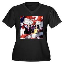 Inauguration Women's Plus Size V-Neck Dark T-Shirt