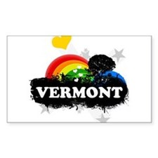 Sweet Fruity Vermont Rectangle Decal
