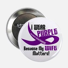 "I Wear Purple For My Wife 33 PC 2.25"" Button"