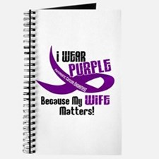 I Wear Purple For My Wife 33 PC Journal