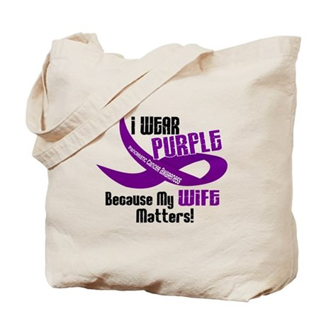 I Wear Purple For My Wife 33 PC Tote Bag