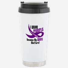 I Wear Purple For My Wife 33 PC Travel Mug