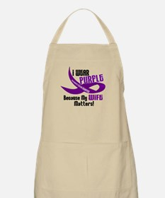 I Wear Purple For My Wife 33 PC BBQ Apron