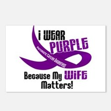 I Wear Purple For My Wife 33 PC Postcards (Package