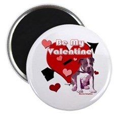 Valentines Day Pit Bull Pup Magnet
