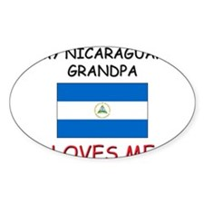 My Nicaraguan Grandpa Loves Me Oval Decal