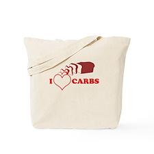 I Heart Carbs Tote Bag