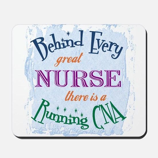 Behind Nurse, Running CNA Mousepad