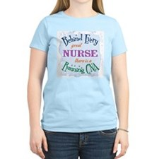 Behind Nurse, Running CNA Women's Pink T-Shirt